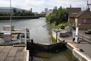 Bow Locks - not the shoal to the right of the picture - it would be easy to go aground there near low tide...