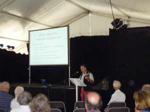 David Phillisp the Harbourmaster presenting at the IWA...
