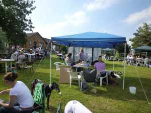 At the Greyhound Friends Garden Party - it was lovely to see so many harmonious hounds...