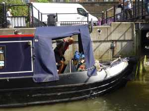 Hang on tight Jill, they're abut to open the lock gates...