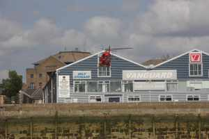 "Skillful landing - we though it was an air ambulance but the logo was ""Homeserve"" - so was it their CEO arriving for a visit http://www.youtube.com/watch?v=A2ta6SS8ltQ"