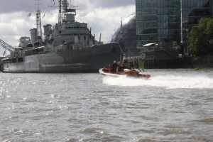 RNLI on a call, it is surprising how little wash they create at speed