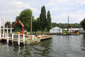 Works at Henley - we suspect it was the removal of some temporary structures post-regatta....