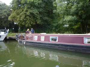 Calamity Jane safely moored