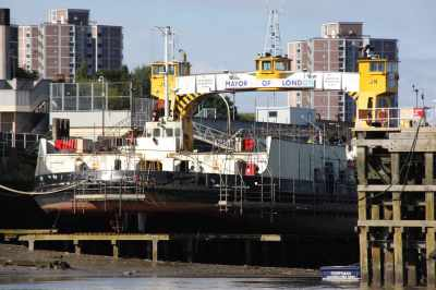 Dry dock for the Woolwich Ferry - interesting!