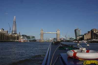 """The illusion is soon shattered by the shard on one side and the """"walkie-talkie"""" building  on the other. Maybe we should be relieved that it's not focusing the sun's rays on the river! http://www.bbc.co.uk/news/uk-england-london-23930675"""
