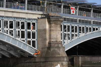 The bridge works at Blackfriars seem never-ending...