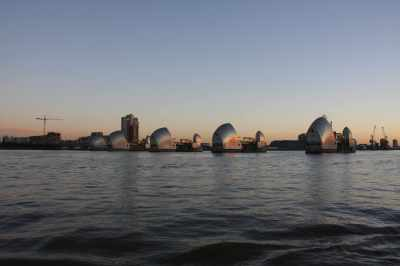 Thames Barrier - the sun was rising now...