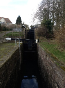 Not quite the top lock of the 14 - looks like a staircase but there's a short pound in-between...