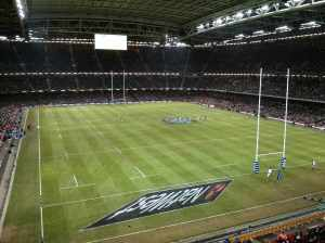 The magnificent Millennium Stadium - always a lift to the spirits...