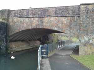 The canal bridge at Cwmbran.....