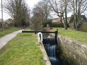 The top lock of the 14 - we didn't explore the canal up from this point but the walk down is charming..