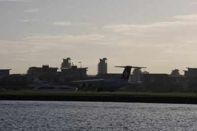 A sunseeker and a jet - this would be a great place to keep your toys - if you can ignroe the fact that it's surrounded by industrial East London!