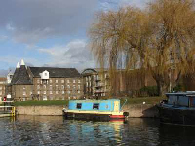 "A ""canalside"" view of Three Mills :-)"