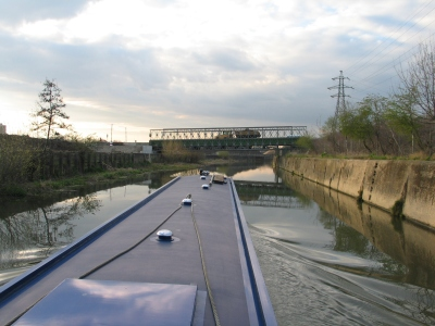 Flashback to 2008 - the Stadium was to be built just behind that temporary bridge