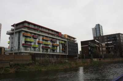 It's the contrasts that make the London waterways so interesting - here development and dereliction sit side-by side....
