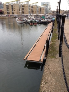 The start of the construction work to add mooring pontoons for the Olympics...