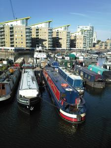 Limehouse Basin shortly after we moved into our new berth in July 2010 :-)