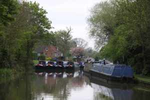 The hire fleet at home - we were alarmed but the staff assured us it was changeover day and that they were well booked. I still don't like how much canal they take up...