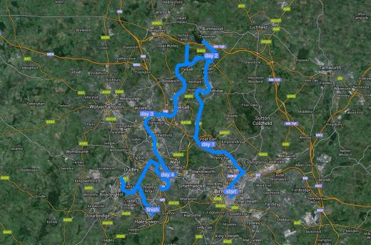 Here's a map of route - thanks to Canalplan's excellent website :-)