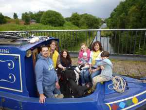 Group photo on the Engine Arm aqueduct...