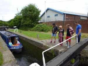 Our guests gonqoozling at the Brades Locks...