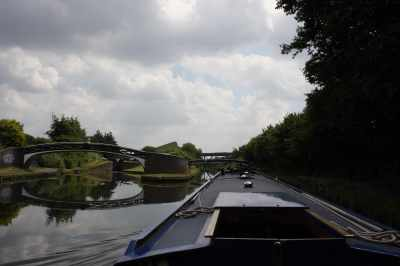 Spon Lane bottom lock - but we're going straight ahead today :-)