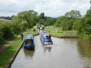 Wyn taking great care of Indigo Dream at every lock....