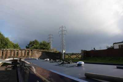 Not storm chasers but storm runners - a narrowboat is not the best vehice for outrunning a storm though :-)