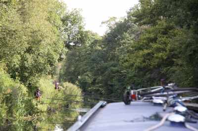 A more familiar towpath feature - a serious fishing competition :-)