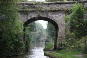 The first of many fine stone bridges on the Maddlesfield canal..