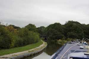 Approaching the Bosley Locks - we've been looking forward to this moment...