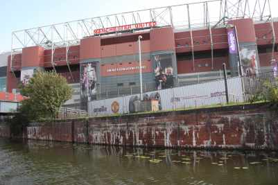 Manchester United - that close to the canal!