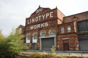 "Historic Grade "" listed Linotype Works in Altrincham..."