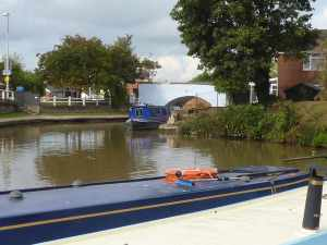 Indigo Dream looking a bit out of sorts - the end-of-garden mooring has now been dredged but it wasn't for us....