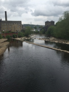 The river Calder at Sowerby Bridge....
