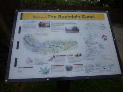 More information boards - a welcome addition to the canalscape..
