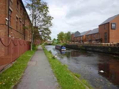 Anonymous red brick canalside development - boring but very necessary...