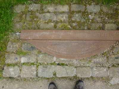 This plaque commemorates the achievement of the Rochdale canal, which crosses the