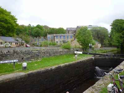 Travis Mill lock - with its attendant mill buildings - remnants of a long gone industry...