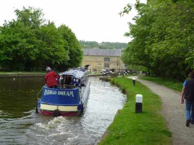 Approaching lock 1 and the end of the Rochdale canal...