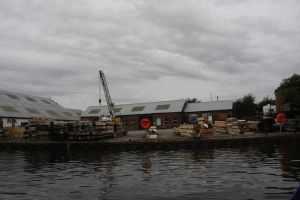 Stanley Ferry workshops - with timbers waiting to be turned into lok gates - it's a grand sight...