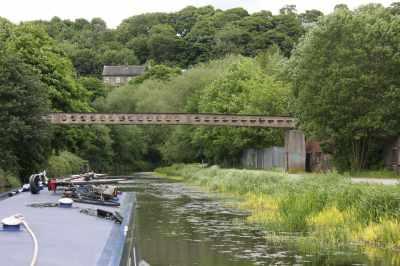 Strangely decorative pipe bridge.