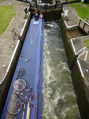 The staircase locks fill nicely