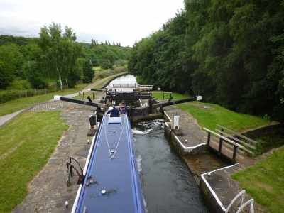 Great view - we climbed quickly up the big staircase locks :-)