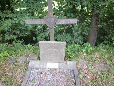 The cross marking the site of the 1943 plane crash by Bridge 186