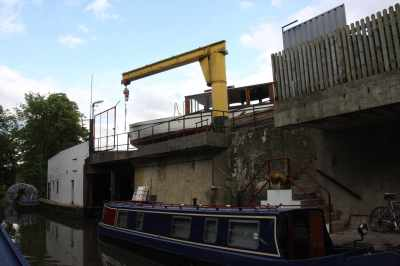 How did that boat get up there? That crane surely isn't strong enough...