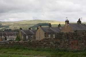 A southerners view of Yorkshire - tight industrial revolution terraces and soaring hills behind....