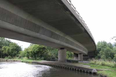 An unusually shapely modern bridge..