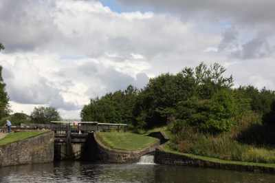 View up the Wigan flight - we're about four locks down at this point...